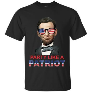 Party Like A Patriot Abe Lincoln Sunglasses USA T-Shirt Ultra Cotton T-Shirt