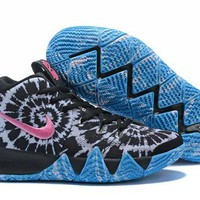 DCCK Nike Kyrie Irving 4 White/Black/Pink/Blue Sport Shoes