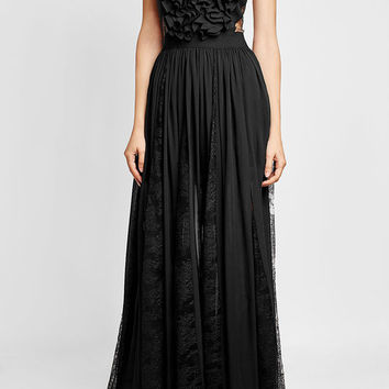 Floor Length Gown with Silk and Lace - Elie Saab | WOMEN | US STYLEBOP.COM