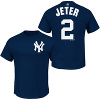 New York Yankees Derek Jeter Name & Number T-Shirt - MLB.com Shop