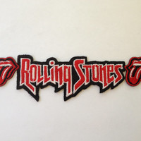 Rolling Stones Iron On Patch, Rock Band Embroidered Applique