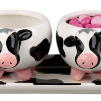 Boston Warehouse Udderly Cows Serving Set of 3