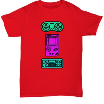 Classic Vintage Video Games Controllers For Gamers T-Shirt