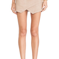 BCBGMAXAZRIA Envelope Skirt in Tan