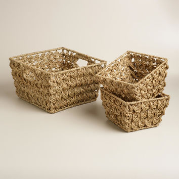 Natural Betty Coin Weave Baskets - World Market
