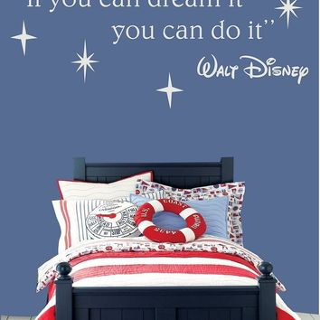 If you can Dream It Wall Stickers Decor Baby Kids Bedroom Wall Decal Available In Different Colors Removable Wall Tattoo  SC005