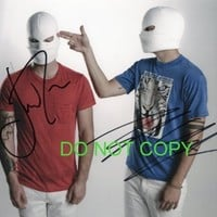 Twenty One Pilots band reprint signed promo photo by both #1 RP