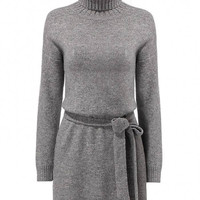 Grey Knitted Mini Dress