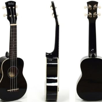Hola! HM-21 Soprano Ukulele, Color Series (Black)
