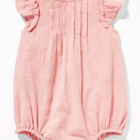 Ruffle-Sleeve Bubble One-Piece for Baby|old-navy