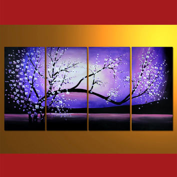 GFL4005  4-PCS Group Oil Painting