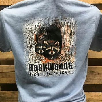 Backwoods Born & Raised Racoon Bright Unisex T Shirt