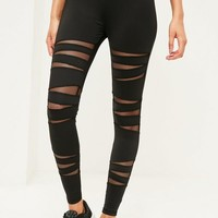 Missguided - Active Black Cut Out Fishnet Sports Leggings