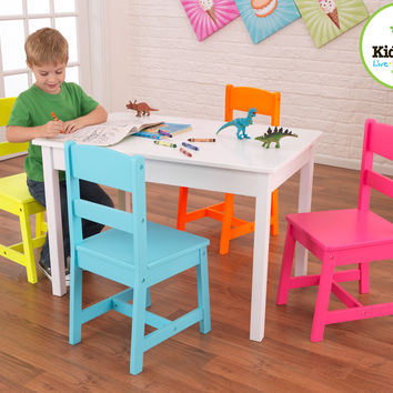 KidKraft Highlighter Kids' 5 Piece Table and Chair Set