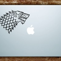 Game of Thrones House Stark Laptop Decal Sticker Vinyl Art Quote Macbook Apple Decor TV Shows Wolf
