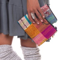 NEW! Large Sari Patch Pouch