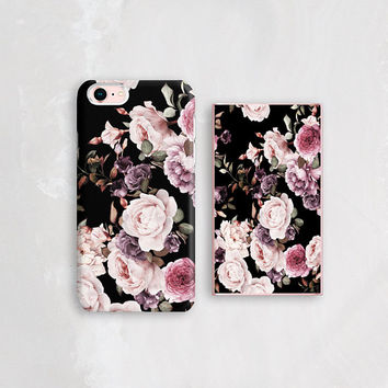 Floral Power Bank WITH Matching iPhone Case, Phone Charger, Rose Gold Phone Charger Gold Power Bank Silver Phone Charger Gold iPhone Charger