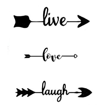 'Live Love Laugh Arrow' by Swigalicious