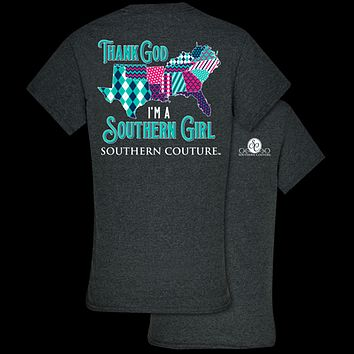 533049ba25f Southern Couture Classic Thank God I m A Southern Girl T-Shirt