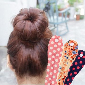 2015 New Arrival Fashion Korea  Button Fabric Floral  Spot  Clips Ball Head Band   Hair Tools Hair Accessories 12 Colors