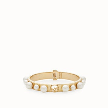 Gold-color bracelet - F IS FENDI BRACELET | Fendi | Fendi Online Store