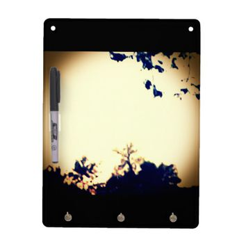 Pretty yellow nature dry erase board and keyholder