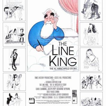 The Line King: The Al Hirschfeld Story 27x40 Movie Poster (1996)
