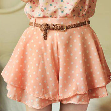 NEW Summer Skirts with Pleated Polka Dots Summer Style Pantskirt for Women Sweet Girl Polka Dot Skirts *35