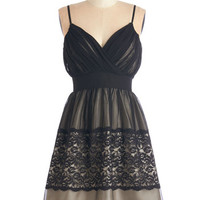 Mid-length Spaghetti Straps Fit & Flare Fancy in the Moonlight Dress