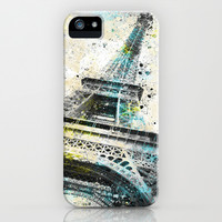 City-Art PARIS Eiffeltower IV iPhone & iPod Case by Melanie Viola