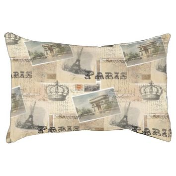French Postcard Collage Dog Bed