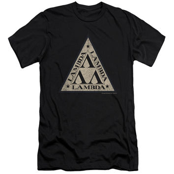 Revenge of the Nerds Tri Lambda Logo Black Fine Jersey T-Shirt