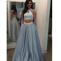Prom Dress Two Pieces Formal Wear pst0949
