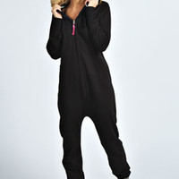 Persia Plain Hooded Fleece Lined Onesuit