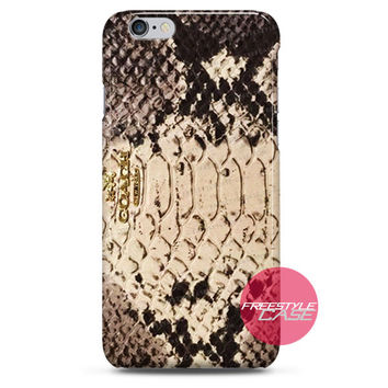Coach Python Embossed Leather Accordion iPhone Case 3, 4, 5, 6 Cover