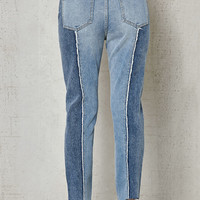 PacSun Chu Blue Frayed Mom Jeans at PacSun.com