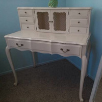 Vintage French Provincial Secretary Desk