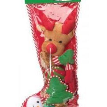 DCCKU7Q Ethical Holiday Filled Dog Stocking Xlarge 8Pc