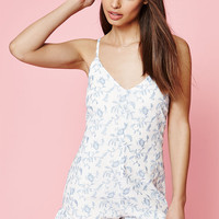 Kendall and Kylie Embroidered Ruffle Romper at PacSun.com