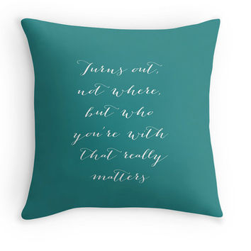 "Dave Matthews Band Pillow Cover, ""Who You're With That Really Matters"", Customizable, Cushion Cover, Decorative Pillow, Song Lyrics"