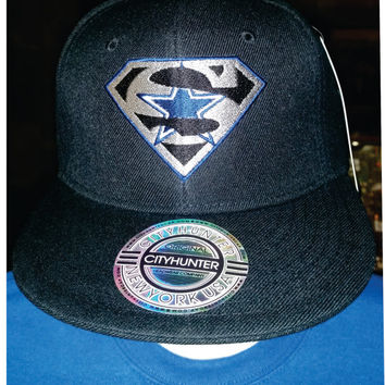 Super Cowboys embroidered hat on snapback flatbill or Flexfit 6277 curved or Flexfit 210 flat bill hat