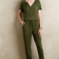 Velvet by Graham and Spencer Paratroop Jumpsuit in Moss Size: