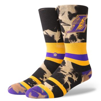 STANCE LAKERS TIEDYE SOCKS