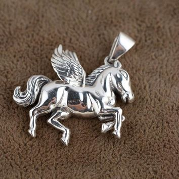 925 Sterling Silver Horse Pendant