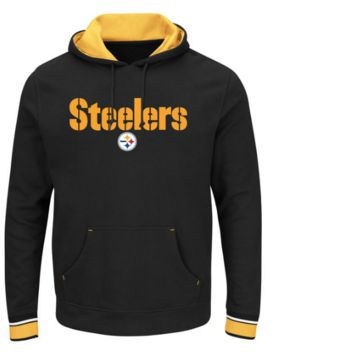 Men's Pittsburgh Steelers Majestic Championship Pullover Hoodie