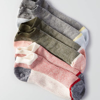 AEO Striped Shortie Socks 3-Pack, Toasted Coconut