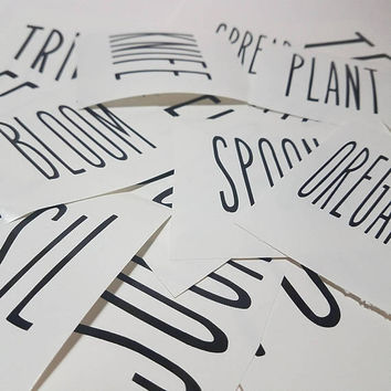 """Dunn Inspired Decals - For Canisters - Cups - Mugs - Planter Pots - 2"""" - Pitcher - Collection - Vinyl Decal Stickers - Deca - Sticker"""