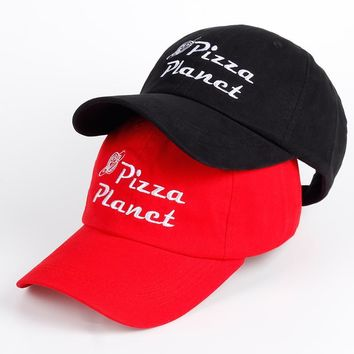 New Brand Pizza Planet Hat Cotton Baseball Cap Embroidery Dad Hat Summer Sun Pizza Cotton Snapback Hip Hop Sport Cap Pokemon