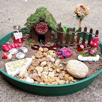 Fairy House Kit, Fairy Garden Kit, Fairy Garden Accessories, Fairy Kit, Miniature Garden Supplies, Terrarium Kit, Miniature Garden Items