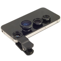 Fish Eye Macro Wide Angle Mobile Phone Lens Camera kit for iPhone